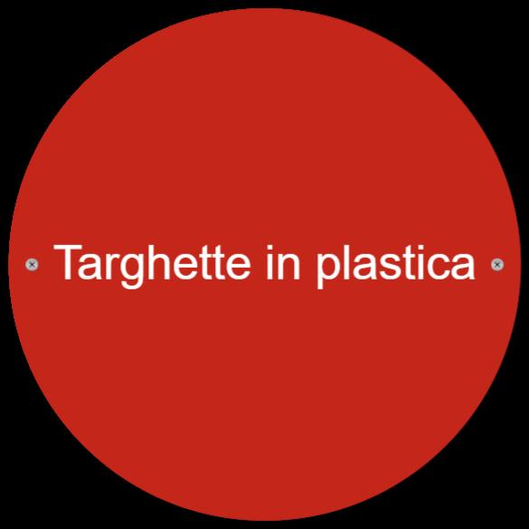 targhette in plastica